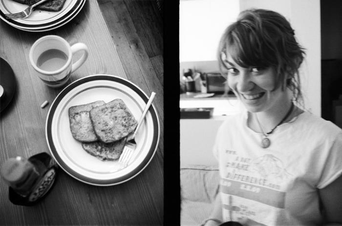 Image of Jessi making me breakfast
