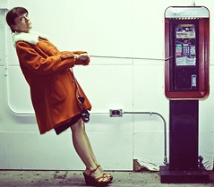 lifeline (enjoythelittlethings) Tags: orange coat payphone hmmm seriously wedges fgr totw landlinewhatsthat ibettheearpiecetothatphonewasnasty