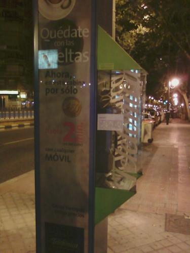 Cabina tablón de anuncio