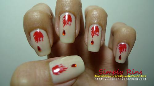 Nail Art Vampire Diaries 03