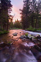 Sunset Colors (alpenglowimages) Tags: river nationalpark cascades yosemitenationalpark lyell tuolumneriver sunsetphoto charleslyell yosemitewilderness nationalparkphoto
