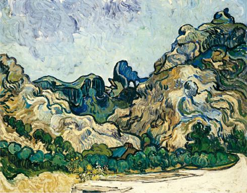 Mountains at Saint-Rémy  (Montagnes à Saint-Rémy), July 1889. Oil  on canvas, Vincent van Gogh