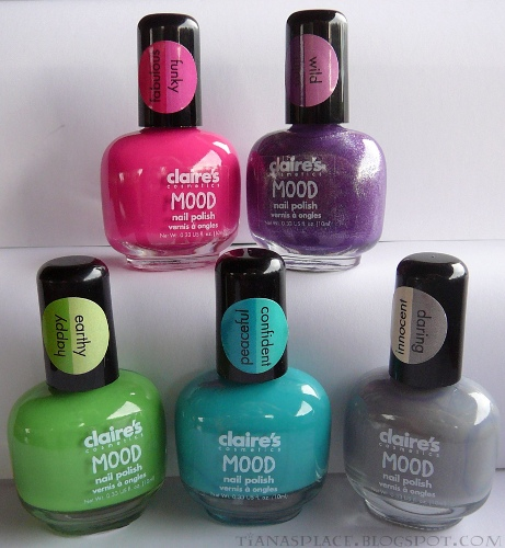 5 Claire's Mood polishes #2