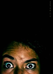 365 340 Zombie II (Miss Minie  :Process Of Illumination:) Tags: woman selfportrait newmexico me girl night self canon dark 50mm scary eyes zombie albuquerque spooky late 365 awake sleepdeprevation