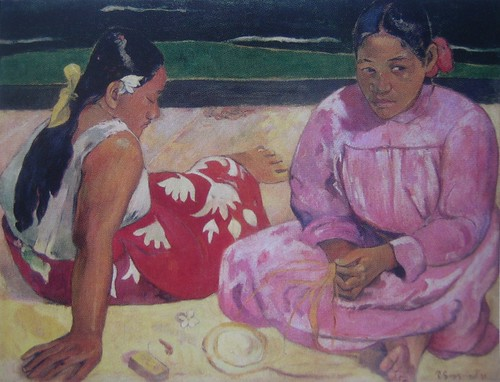 Tahitian Women, Paul Gauguin, 1891, Musée d'Orsay, De Young Museum, San Francisco