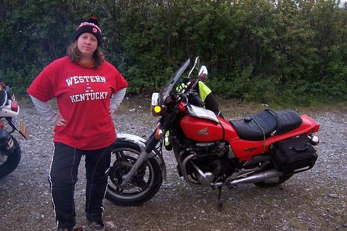Tough biker chick