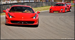 New versus old (ThomvdN) Tags: nikon italia automotive ferrari thom circuit vr f40 carphotography 18105 458 d5000 thomvdn italiazandvoort