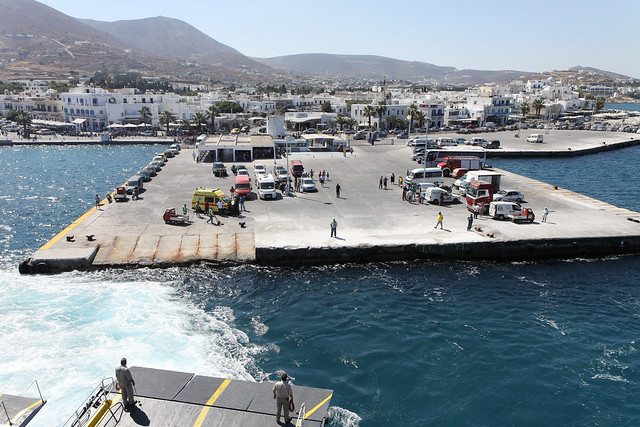 Naxos Ferry - Stop at Mykanos