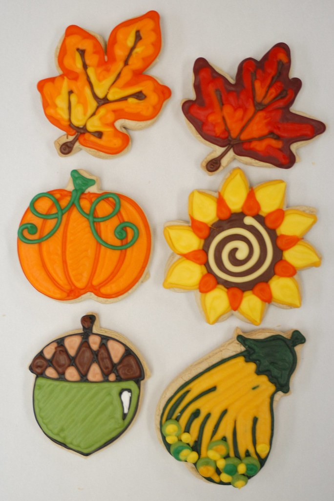 Hand Decorated Fall Cookie Favors