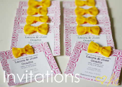 Yellow Bow Invitations