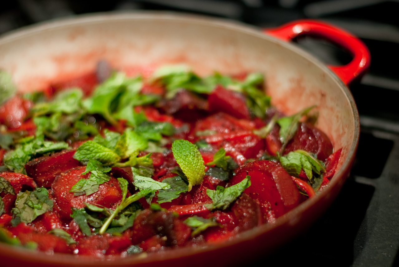 Summer Beets with Mint