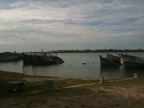 decaying boats in Kayts, Jaffna District