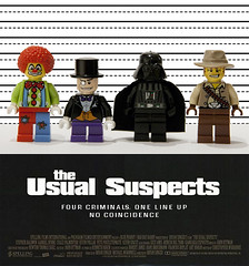 The usual suspects (Magne M) Tags: brick nerd film oslo norway movie poster toy penguin dangerous geek lego clown norwegian movieposter criminal figure batman tribute spoof smirk minifig hommage filmposter villain minis lineup theusualsuspects dartvader batmanvillain oneofthebestfilmsever thepenuin legomovieproject