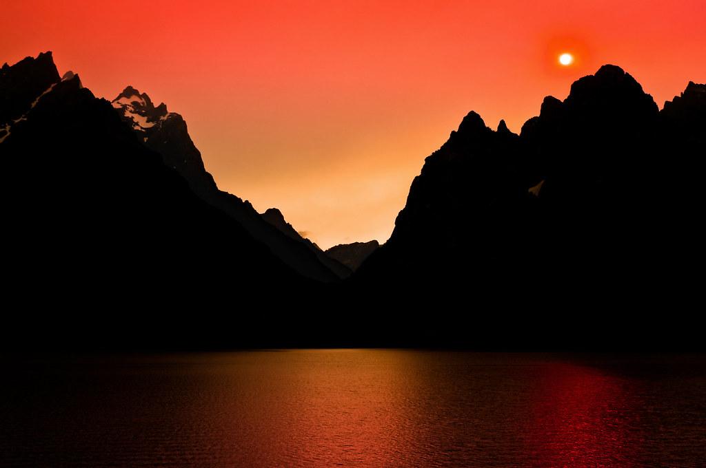 Light On Mars (Sunset Over Jenny Lake), Grand Teton National Park