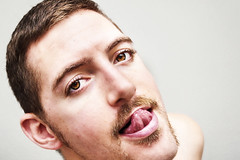 (Damien Cox) Tags: uk gay portrait selfportrait man male me tongue self ego myself beard masculine moi lips homo homosexual stache mustache tache queer scruff stubble sigma30mmf14exdchsm i nikond40 damiencox snaptweet dcoxphotographycom