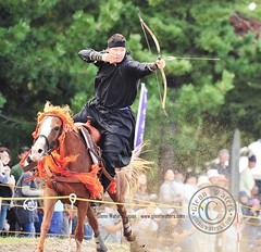 Japanese Yabusame Contest. Mongolian Contestant.© Glenn Waters. Japan. Over 45,000 visits to this photo. (Glenn Waters ぐれんin Japan.) Tags: horse man japan japanese nikon action contest bow aomori 日本 arrow archery archer matsuri japon horseback 青森 祭り 青森県 ニコン 流鏑馬 弓 矢 d700 nikond700 ぐれん glennwaters photosjapan afsnikkor70200mmf28gedvrii モンゴルの選手