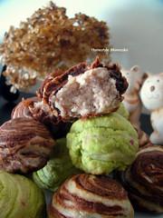 Pastry Mooncake. (11) Tags: chocolate dimsum yam homemade pastry greentea mooncake midautumn midautumnfestival       purplesweetpotato          pastrymooncake