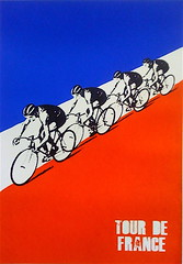 TOUR DE FRANCE SCREEN PRINT (billy craven) Tags: bike bicycle race poster screenprint mywork tourdefrance velo