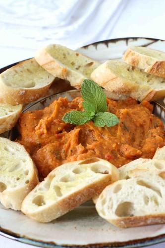 Roasted Vegetable (Sweet Potato, Eggplant & Tomato) Dip or Spread Recipe