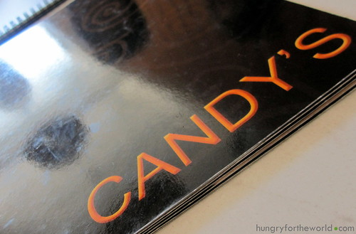 candy's menu cover