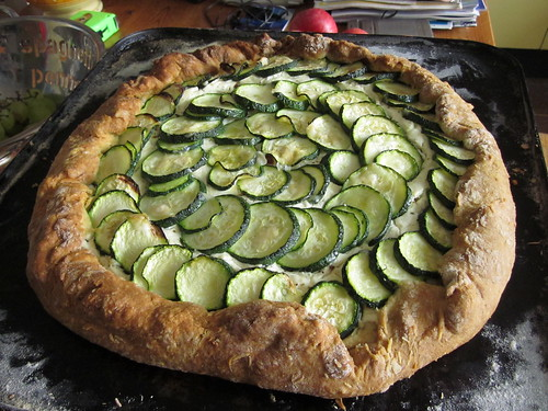 Courgette & Cream Cheese Tart