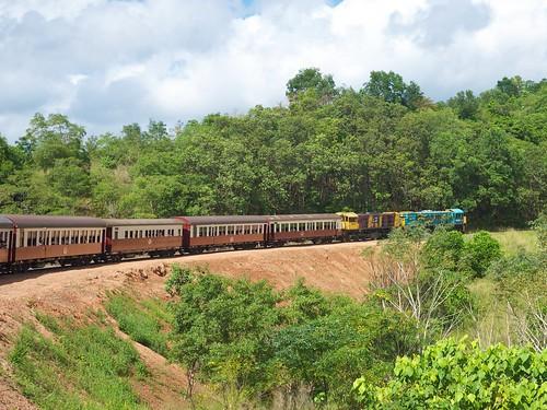 The train up to Kuranda from Cairns