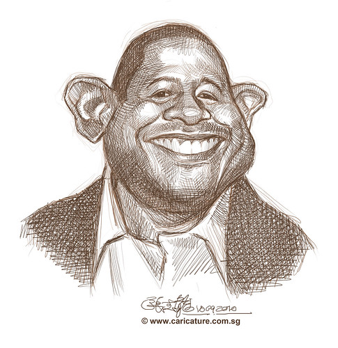 School Assignment 5 - sketch 3 of Forest Whitaker