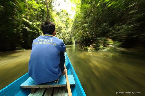 Boat ride in Mulu