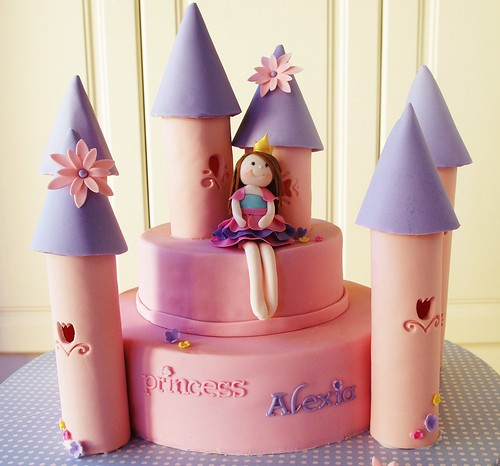 Alexia's Pink Castle Cake