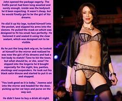 Party girl (Jenni Makepeace) Tags: fetish tv transformation magic lingerie tgirl transgender sissy transvestite caption captions tg mtf tgcaptions tgcaption