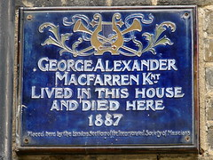 Photo of George Alexander Macfarren blue plaque