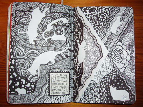 Wreck This Journal: Pretend You Are Doodling On The Back Of An Envelope While On The Phone.