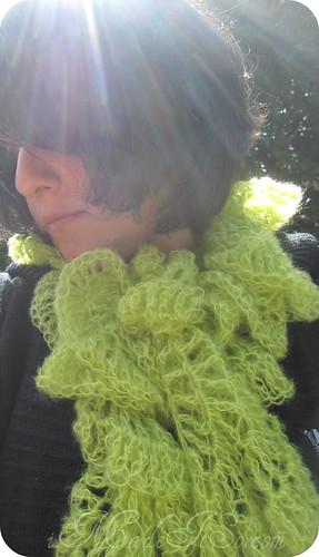 hyperbolic anemone crochet scarf