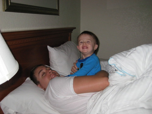 Henry and Papa in hotel in NC