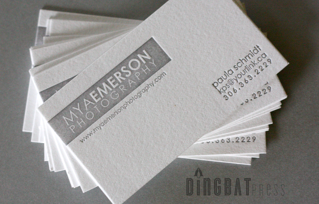 Photographer 1/0 letterpress business card