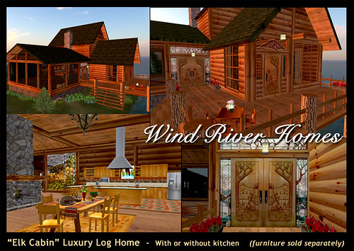 """Elk Cabin"" from Wind River Homes - InWorldz by Teal Freenote"
