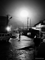 One night in Coorg... (zeeography) Tags: moon mist rain night umbrella fullmoon moonlight coorg madikeri gandhijayanti