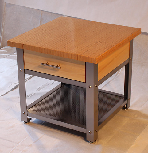 Modern-Industrial End Table
