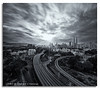 Noir KL (DanielKHC) Tags: bw white black monochrome digital sunrise interestingness high nikon cityscape dynamic 5 front explore malaysia page sunburst kuala range fp dri hdr lumpur blending d300 nd400 pekeliling danielcheong danielkhc tokina1116mmf28