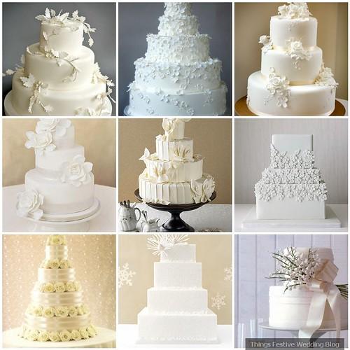 Simple White Wedding Theme: All White Wedding Cakes - Simple Elegance
