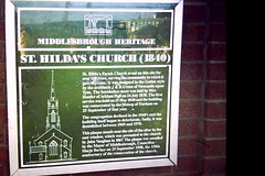 Photo of St. Hilda's Parish Church and J & B Green green plaque