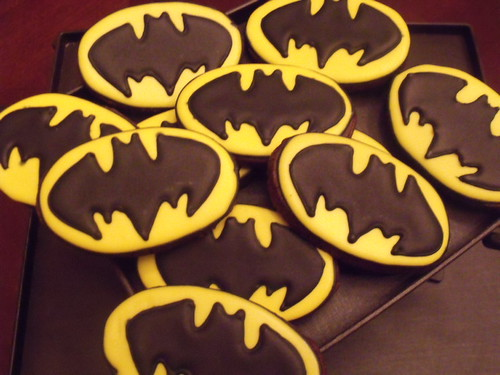 1st attempt at making Batman cookies