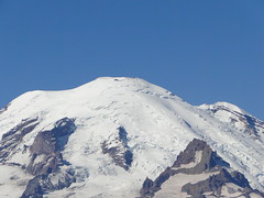 Zoom of Rainier from Shriner Peak lookout.