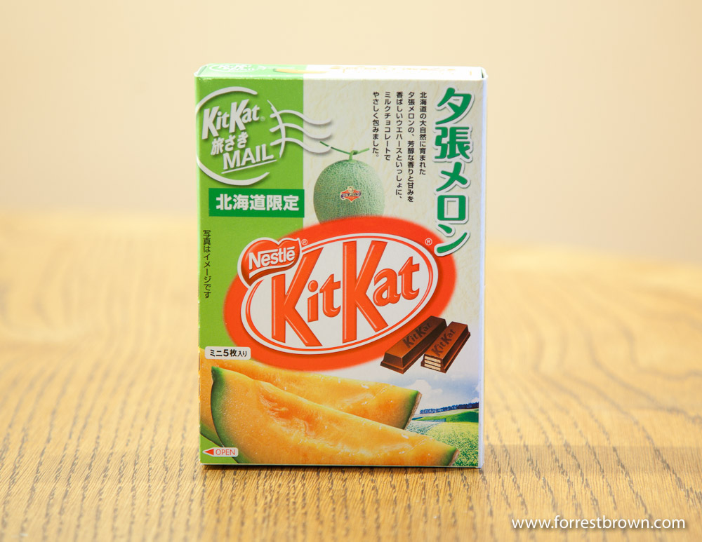Yubari Melon Flavored Kit Kat, Kit Kat, Candy Bar, Japan, Tokyo