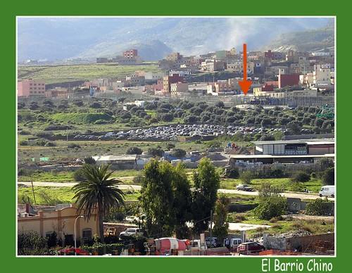 Frontera Barrio Chino, Melilla, España