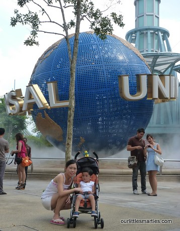 In front of the USS Globe