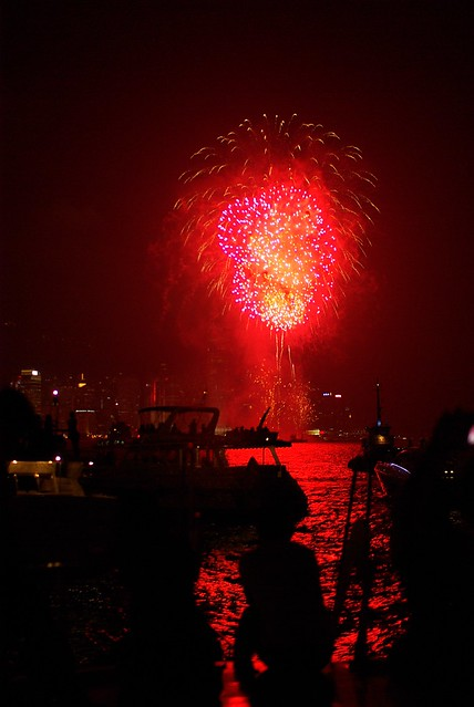Fireworks in the Harbour, National Day