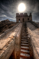 [Free Image] Architecture/Building, Archaeological Site, Great Wall of China, World Heritage, China, HDR, 201010051900