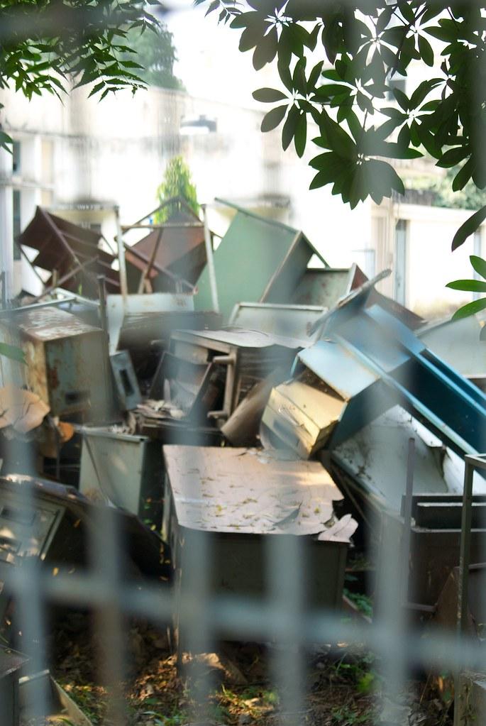 Desk Graveyard? -- where desks go to die in Delhi