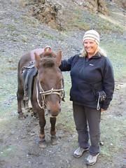 Alison and her horse (jayselley) Tags: park three nationalpark asia desert september mongolia national beauties gobi exodus 2010 mongol gurvan yolynam vulturesmouth gurvansaikhan threebeauties saikhan mongolianadventure